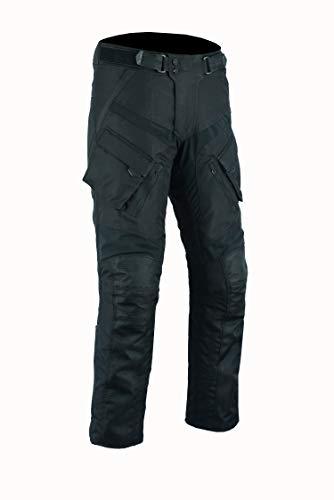 BOS Sportliche Motorrad Hose Motorradhose Schwarz mit Oberschenkeltaschen