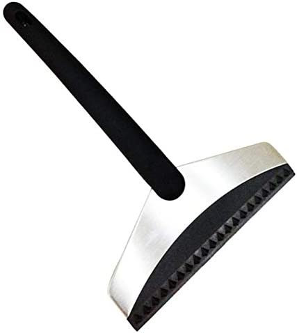 Funien Snow Shovel, Car Snow Shovel Windshield Scraper Stainless Steel Upgraded Solid Frosted Rubber Painted Handle Refrigerator Defrosting Shovel