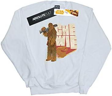 Star Wars Herren Solo Chewie Falcon Sweatshirt Weiß XXXX-Large