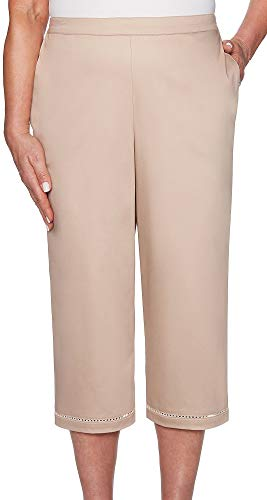 Alfred Dunner Capris - Alfred Dunner Women's Society Page Society Capri Pant (18, Tan)