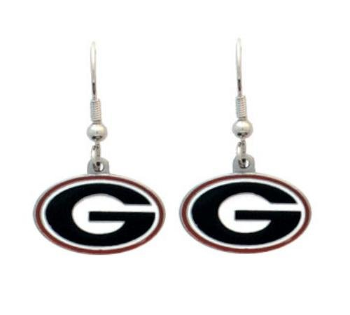 Siskiyou NCAA Georgia Bulldogs Dangle Earrings (Bulldogs Team Post Earrings)