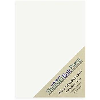 Amazon.com : 100 Soft Off-White Translucent 17# Thin Sheets - 5
