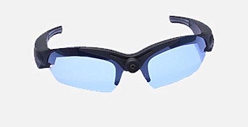 UltraByEasyPeasyStore POV Glasses W/ additional Blue lenses Action Video Camera 720p HD High Resolution sports glasses for outdoor use black (+8gb Micro SD - Pivothead Sunglasses Hd