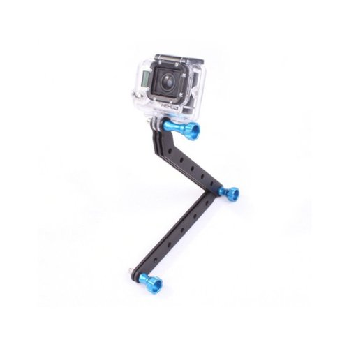 Goliton Aluminum Alloy Extension Arms Mount Rig Screw for Gopro Hero4/3+/3/2/1 - Blue
