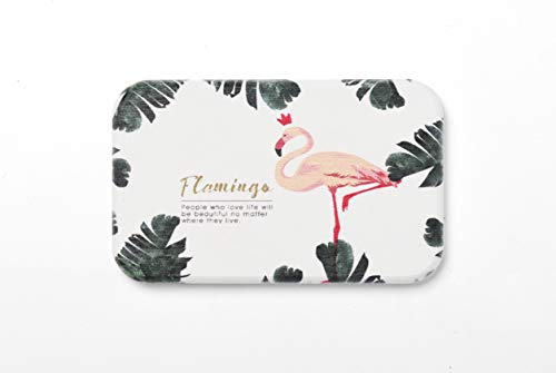 Jujin Diatomite Soap Dish, Soap Bar Holder for Shower/Bathroom/Kitchen, Absorbent Soap Saver and Clay Coaster 1 Pack, Self-Dry Diatomaceous Earth Made - Soap Flamingo Dish