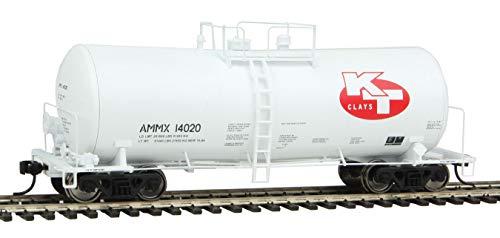 Run 16000 Gallon Funnel - 40' UTLX 16,000-Gallon Funnel-Flow Tank Car - Ready to Run -- KT Clays AMMX #14020 (white, red)