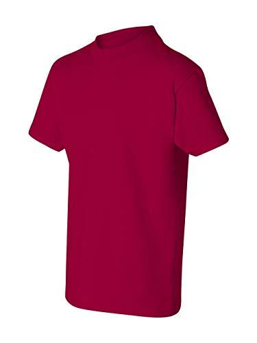 Hanes boys Cotton T-Shirt(5450)-Deep Red-S (Hanes Boys Red Label)