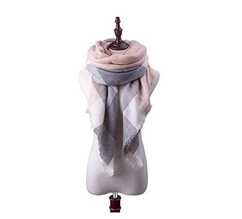 Womens Plaid Blanket Fall Winter Scarf Tartan Plaid Scarf Shawl Soft Chunky Large Blanket Wrap Shawl Scarves