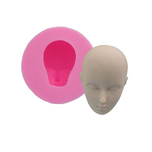 Head Modeling Silicone Molds Polymer Clay Mold Fondant Baking Tools Ultra-light Clay Mold