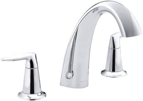 KOHLER K-T45115-4-CP Alteo Bath Faucet Trim, Valve Not Included, Polished Chrome 4 Deck Mount Bath Faucet