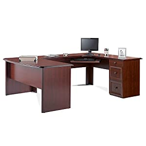 Realspace Broadstreet Executive U-shaped Office Desk – Hutch sold separately