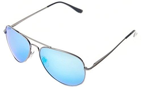 Peppers MP5705-42 Freeway Polarized Sunglasses, Gunmetal/Blue Mirror, ()
