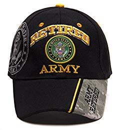 United States Army Retired Shadow Adjustable Cap - Black ()