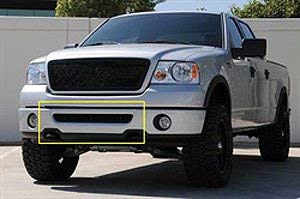 TRex Grilles 52555 Upper Class Small Formed Mesh Steel Black Finish Bumper Grille Bolt-on for Ford F150