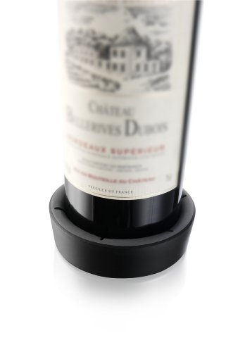 Vacu Vin Wine Bottle Coaster/Surface Protector - Black