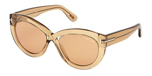 Lunettes de Soleil Tom Ford DIANE-02 FT 0577 SHINY DARK YELLOW/LIGHT BROWN femme