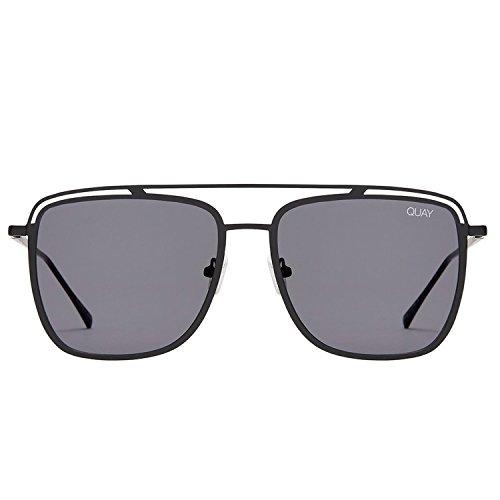 Quay Australia MR BLACK Men's Sunglasses Lightweight Metal Frame - - Quay Sunglasses Black