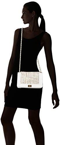 Chicca Borse 8634, Borsa a Spalla Donna, 28x18x10 cm (W x H x L) Bianco