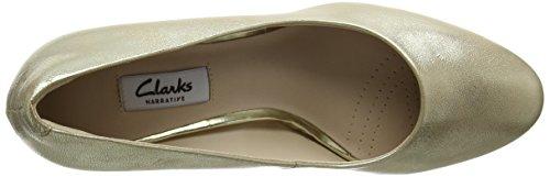 Clarks Kelda Hope, Zapatos de Tacón para Mujer Varios Colores (Gold Metallic)