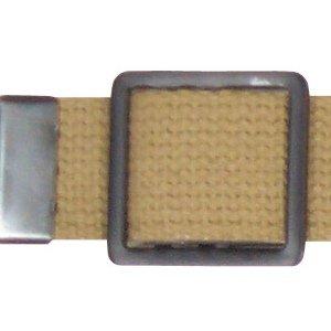 Black Open Face Web Belt Buckle 1.25