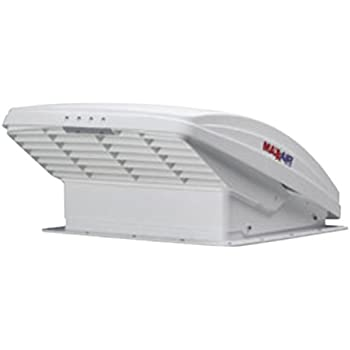 Maxxair 00-05100K MaxxFan Ventillation Fan with White Lid and Manual Opening Keypad Control