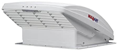 Maxxair 00-06200K MaxxFan Ventillation Fan with Smoke Lid and Manual Opening Keypad Control