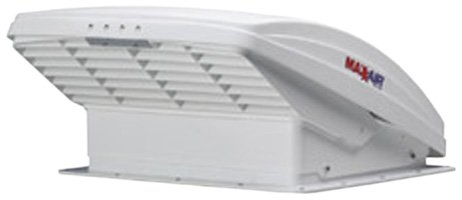 Maxxair 00-05100K MaxxFan Ventillation Fan with White Lid and Manual Opening Keypad Control (Four Speed Fan White)