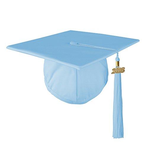 Class Act Graduation Graduation Matte Mortar Board Cap and Matching 2018 Tassel- Light -