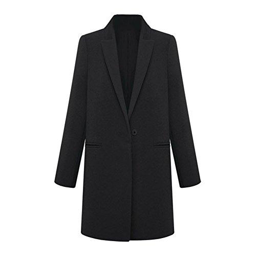 Cachemire Trench Mode Sodial Laine Blazer En Manteau Hiver Costume Noir r Long Femmes M Survetement yZWcSy