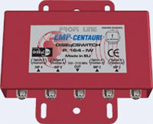 EMP CENTAURI 4x1 DiSEqC 2.0 Multi-switch P.164-IW by EMP-Centauri