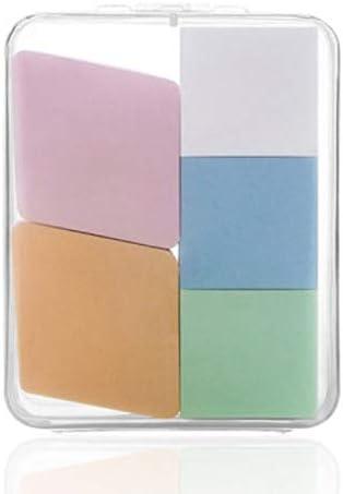 美容スポンジ、収納ボックス付きソフト化粧スポンジ美容メイク卵5パック