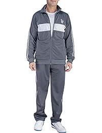 9901adf93f Men s 2 Piece Jacket   Pants Slim Fit Jogging Track Suit