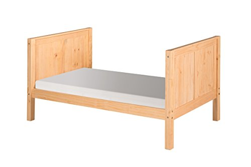 Camaflexi Panel Style Solid Wood Tall Platform Bed, Twin, Natural