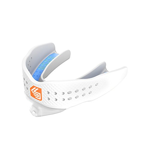 Shock Doctor Mouthguard Superfit - Easy-Fit Strap/Strapless mouthguard - Low Profile Fit Perfect for Basketball, Hockey, Lacrosse, All Sport