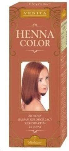 Henna Color 7 Cobro Bálsamo Capilar Tinte Para Cabello Efecto De Color Tinte De Pelo Natural Gallina Eco