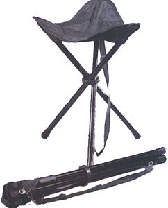 Rothco Collapsible Stool with Carry Strap, Black