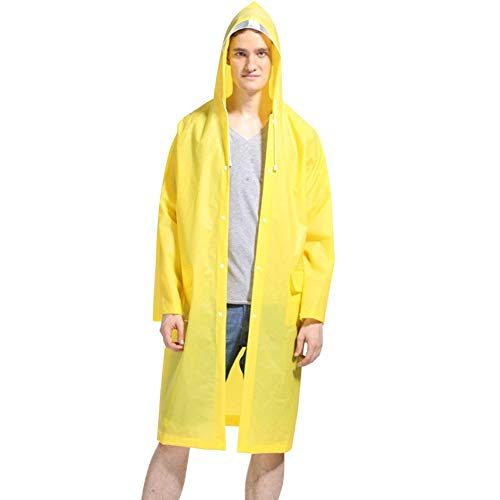 LvDD Raincoat Durable EVA Rain Cape Unisex Men Women Rain Poncho with Hat Hood for Outdoor Travel, 44