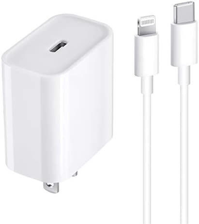 iPhone 12 Fast Charger [Apple MFi Certified], 20W USB C Power Wall Charger Travel Plug with 6FT C to Lightning Cable Charge Sync Cable for iPhone 12 11 Mini 12 Pro/12 Pro Max/11 Pro Max/XS