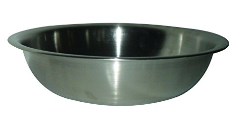 Stainless Steel 4 Qt, 18/8 Stainless Steel Wash Basin, Extra Heavy, (Stainless Steel Washbasin)
