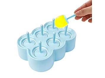 GYwink Cocina Mini Molde para paletas de Hielo Molde para Helado de Silicona Lolly Ice Cream