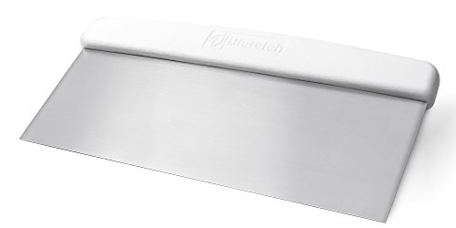 Bleteleh Extra Large commercial dough cutter/bench scraper 3.5 x 10-inch stainless steel blade with white polypropylene handle