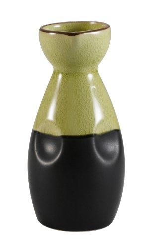 CAC China 666-WP-G Japanese Style 1-3/4-Inch Golden Green Sake Pot, 6-Ounce, Box of 36 by CAC China