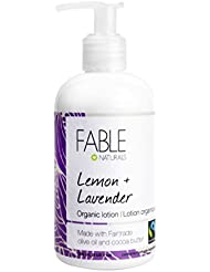 Fable Naturals Organic Lotion, Lemon/Lavender, 8.5 Fluid Ounce