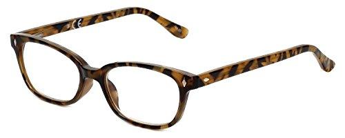 Corinne McCormack Designer Reading Glasses Casey in Tortoise +2.00 ()