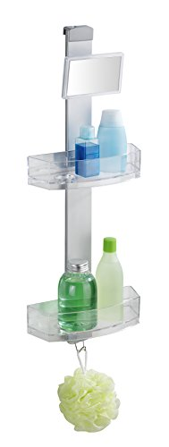 WENKO 22368100 Shower Caddy Premium with Anti-Fog Mirror by WENKO