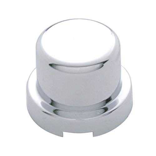 Pack of 10 Chrome Flat Top Hex Nut Bolt Cover Push On Protectors - (Chrome Hex Bolt Cover)