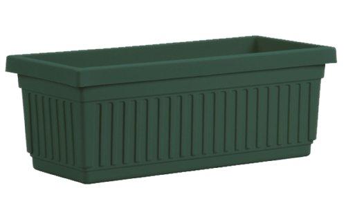 Akro-Mils VNP18000B91 Venetian Flower Box, Evergreen, 18-Inch (Fluted Planter Square)