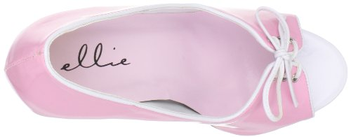 Scarpe Ellie Womens 411-mimi Pump Rosa / Bianco