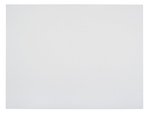 School Smart. 1485742 Railroad Board, 6-ply Thickness, 22'' x 28'', White (Pack of 25) (Limited Edition) by School Smart.