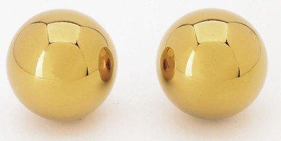 Qi Gong Kugeln, goldfarben, 35 mm
